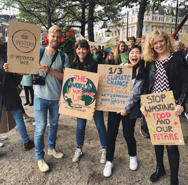 Instock bij de Klimaatstaking in Den Haag