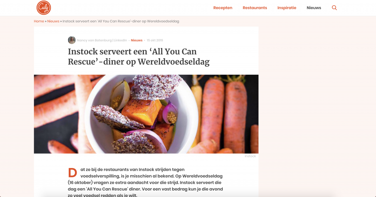 Culy.nl schrijft over All You Can Rescue