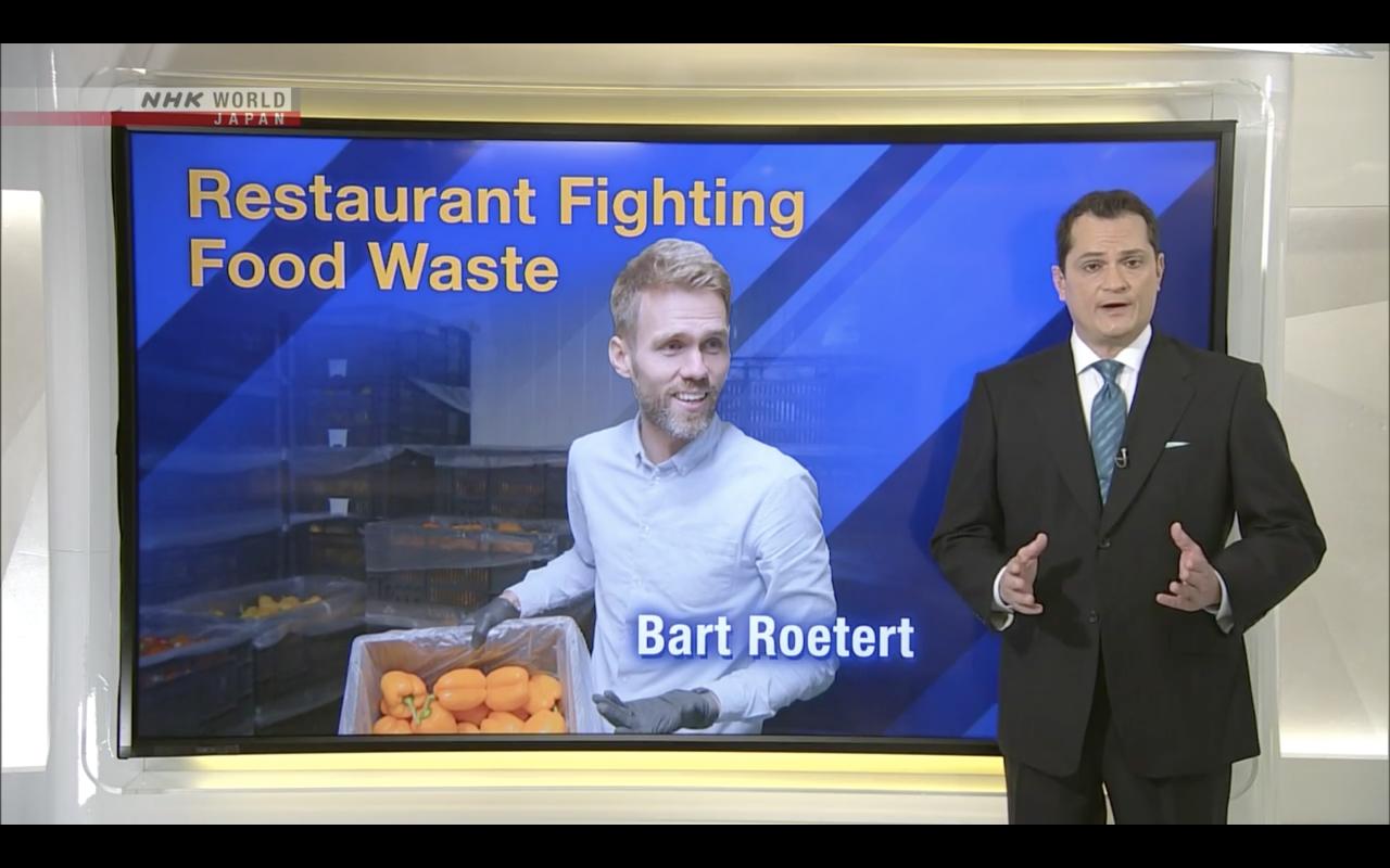 Bart Roetert van Instock in een aflevering van Direct Talk Japan