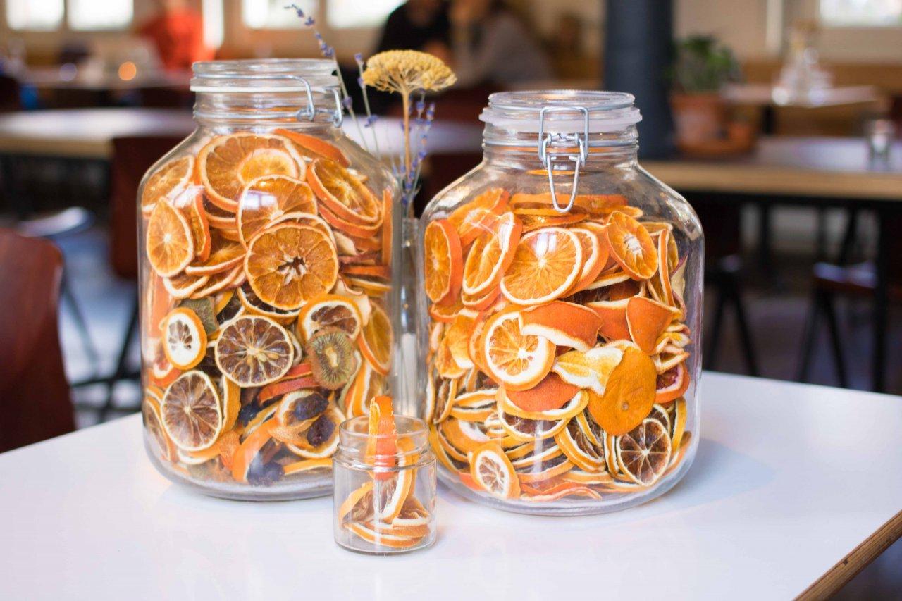 Foto van gedroogde sinaasappels