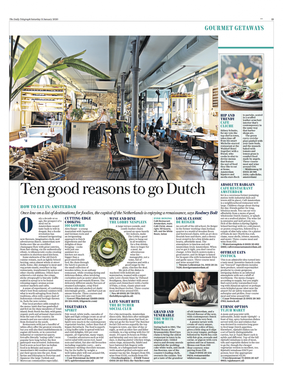 Instock in The Daily Telegraph