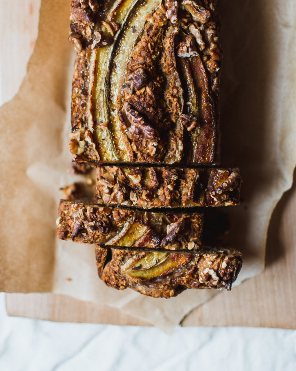 Foto van bananenbrood